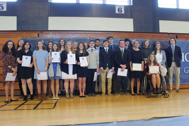 2018 National Honor Society Students