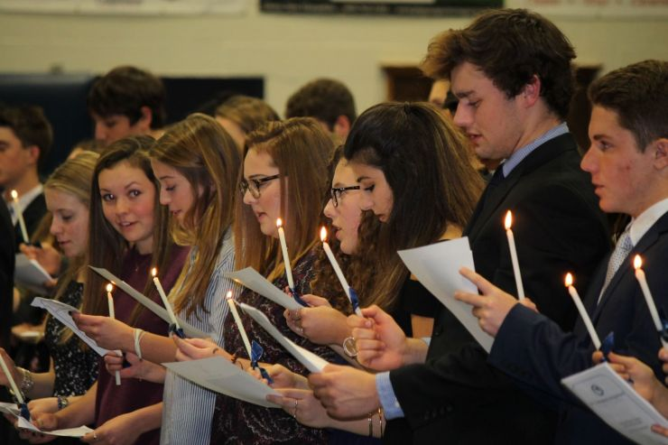 New Saints are Inducted into the National Honor Society