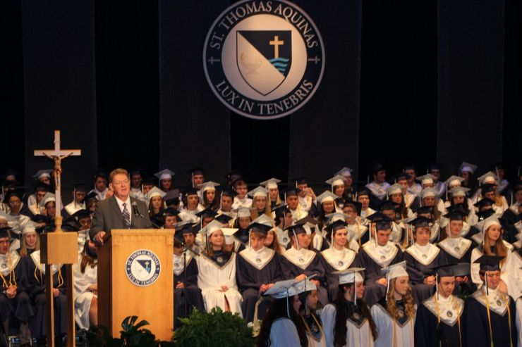 St. Thomas Aquinas High School's 2018 Commencement will be live-streamed.